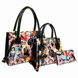 Handbags - Michelle Obama 3pc Tote & Wallet Set